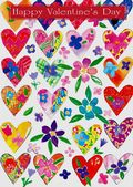Valentine's Day Card-Colourful Hearts And Flowers Valentine